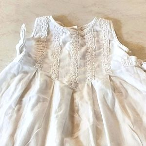 Young girls white dress